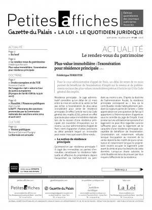 Plus Value Immobiliere L Exoneration Pour Residence Principale